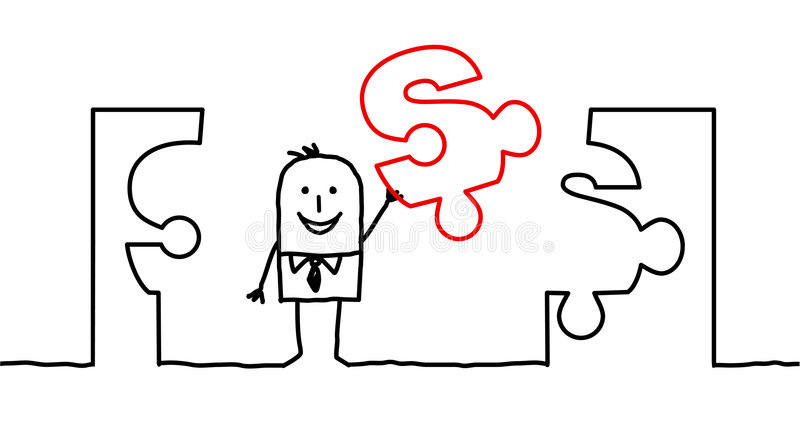 2 affärslösningar vektor illustrationer