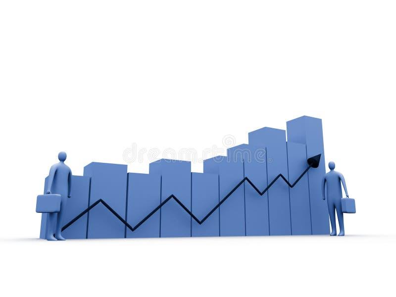 2 affärsstatistik royaltyfri illustrationer