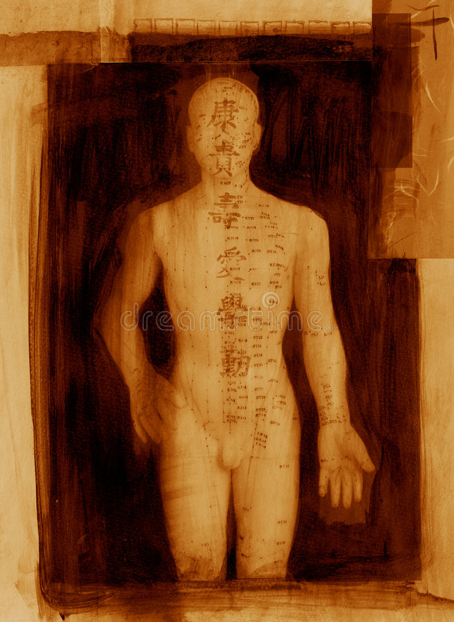 2 akupunktura abstraktów royalty ilustracja