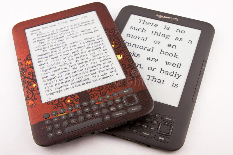 Amazon Kindle E-Reader editorial stock photo  Image of amazon - 19555098