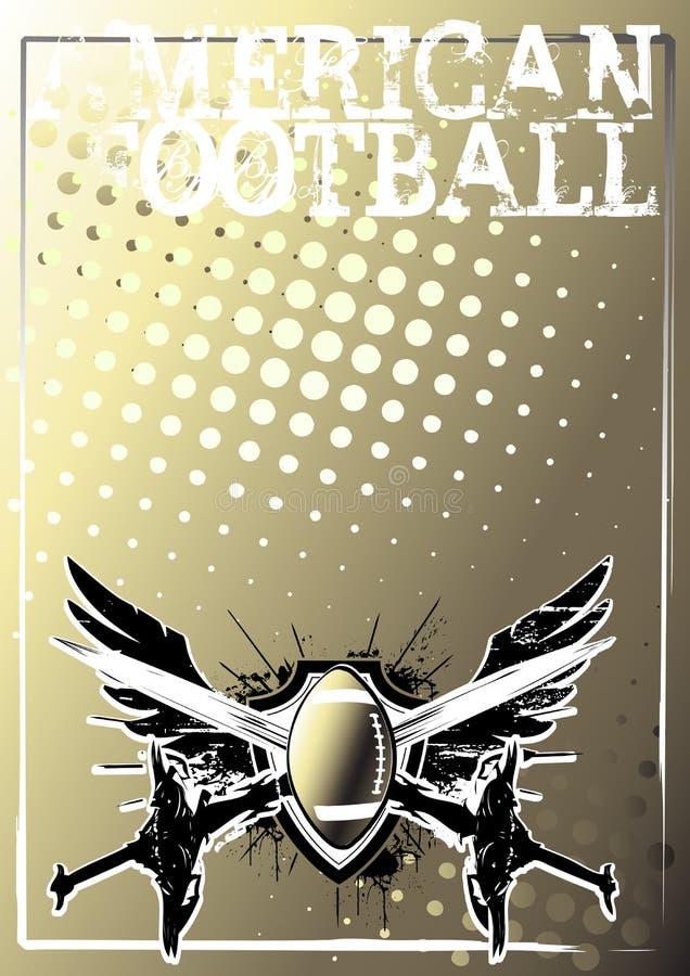 2 amerykan tła futbolowy złoty plakat royalty ilustracja