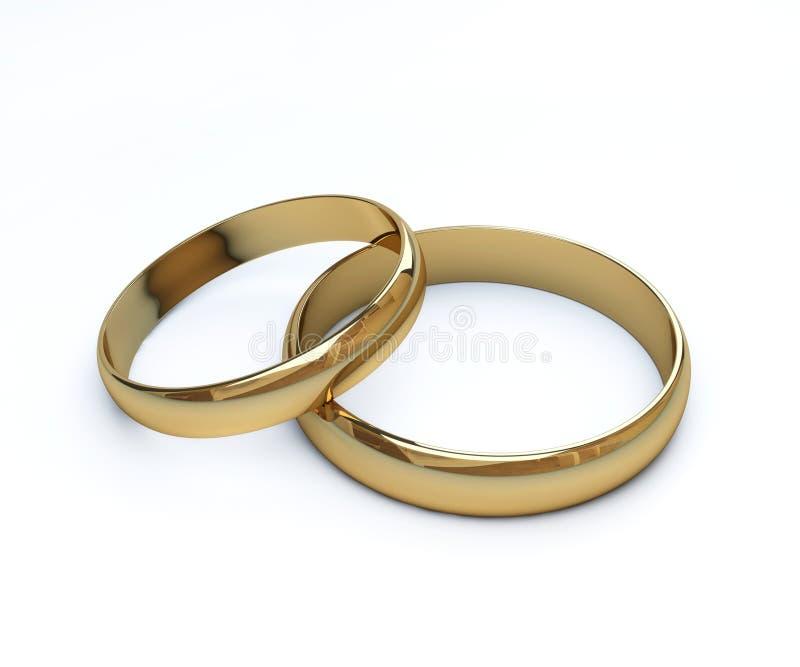 2 anillos de bodas imagen de archivo