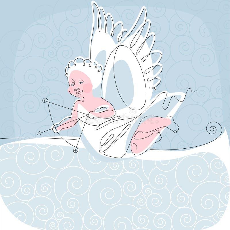 2 aniołów nić royalty ilustracja
