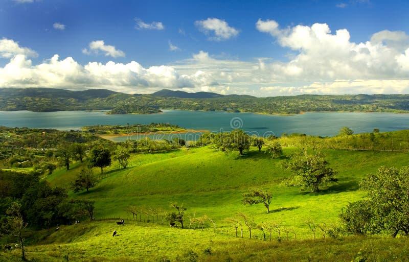 2 arenal rica λιμνών πλευρών στοκ φωτογραφία