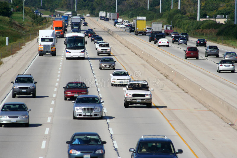 2 autostrad ruchu zdjęcie royalty free