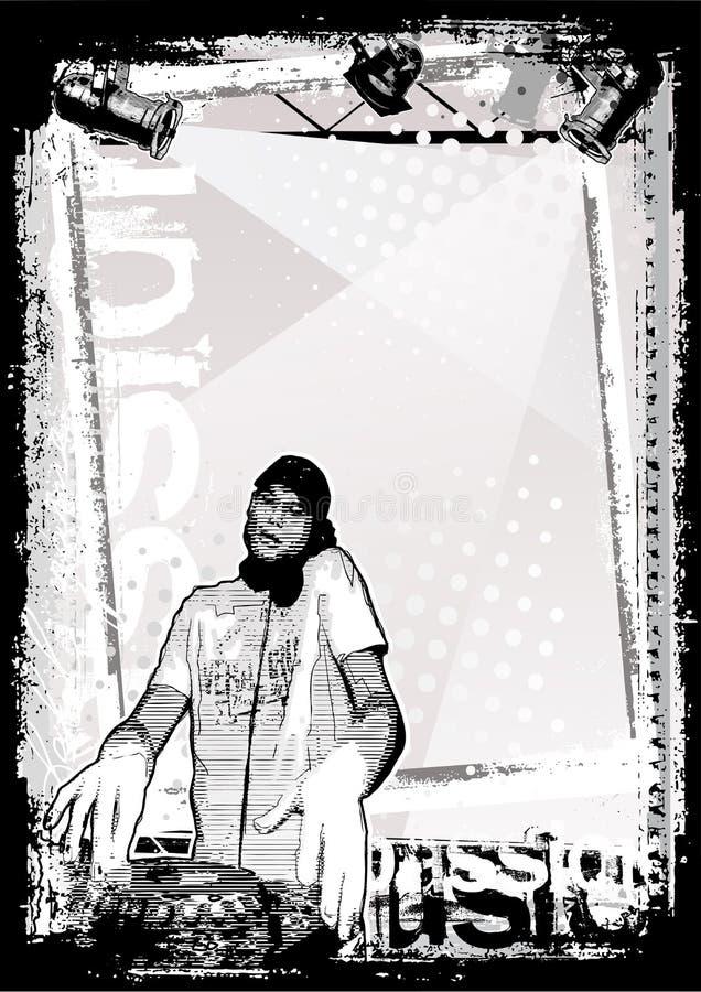 2 bakgrund smutsig dj royaltyfri illustrationer