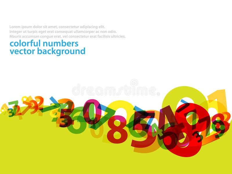 2 bakgrundsnummer stock illustrationer