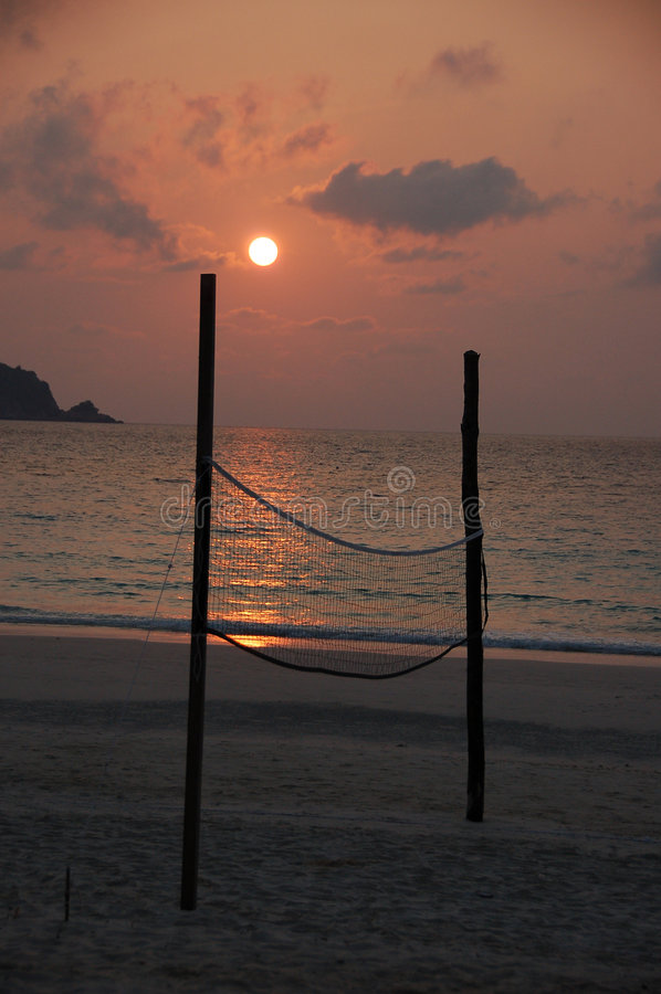 2 ball beach court volley 免版税库存照片