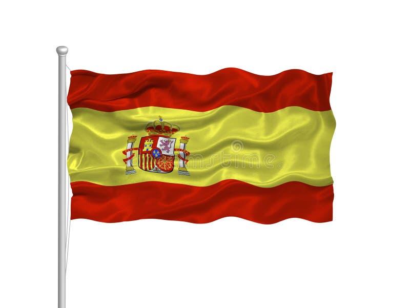 2 banderą Hiszpanii royalty ilustracja