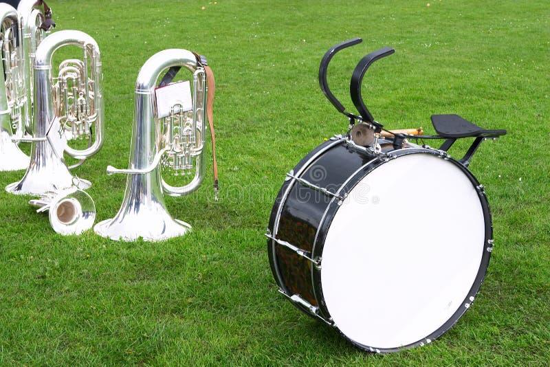 2 bandinstrument arkivfoto
