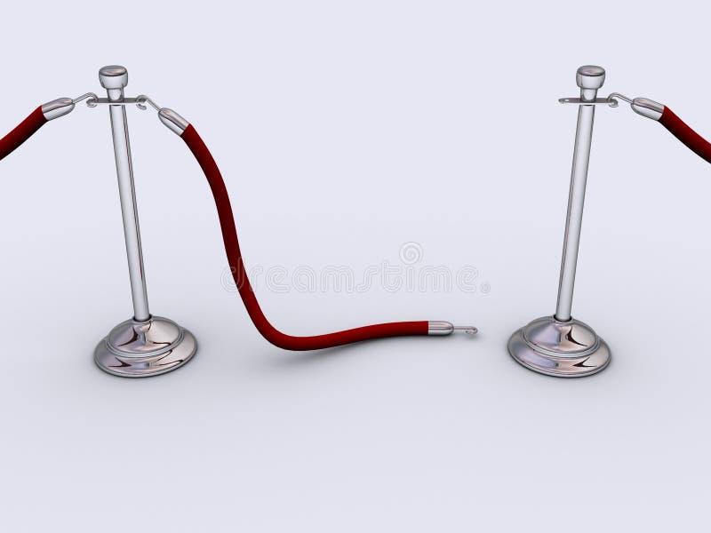2 barier liny royalty ilustracja
