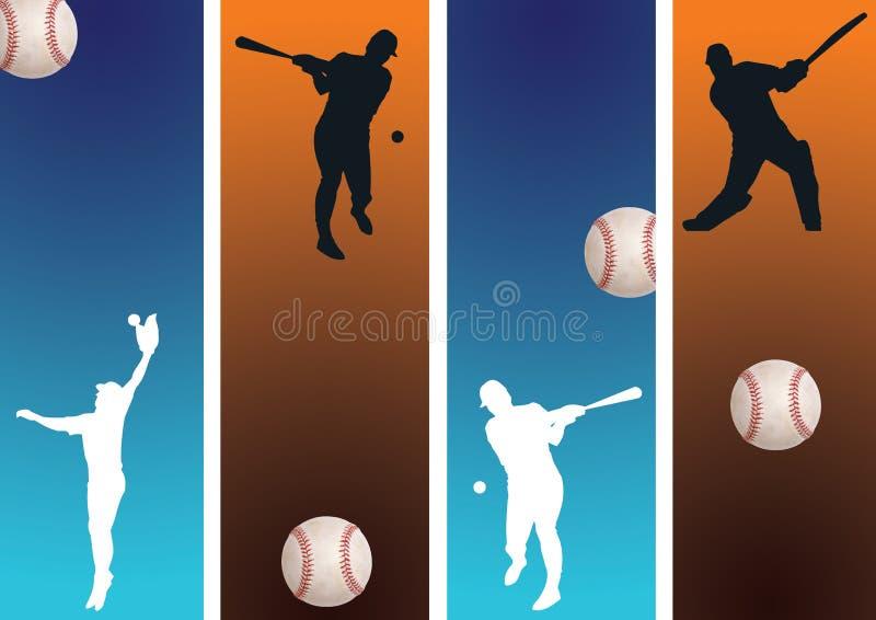 2 baseball royalty ilustracja