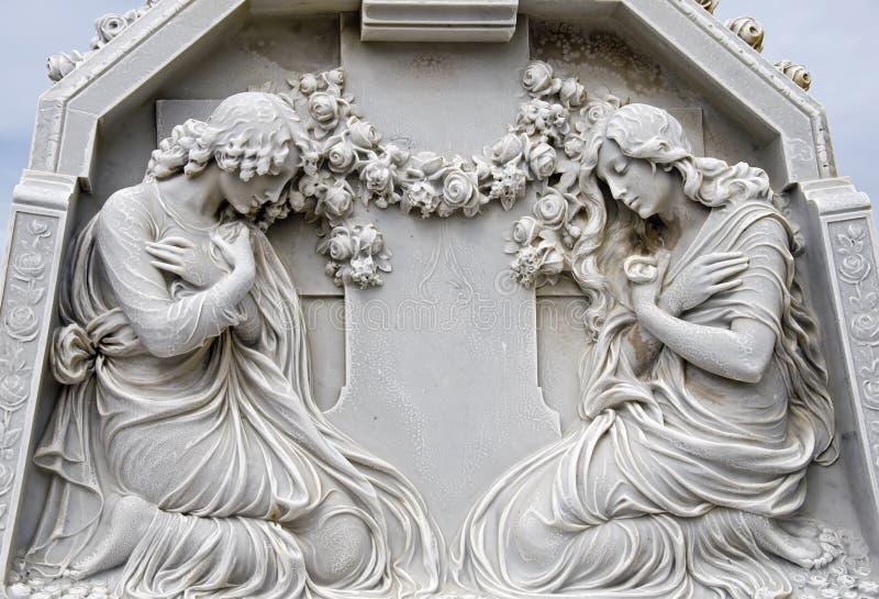 2 betende Frauen stockbilder