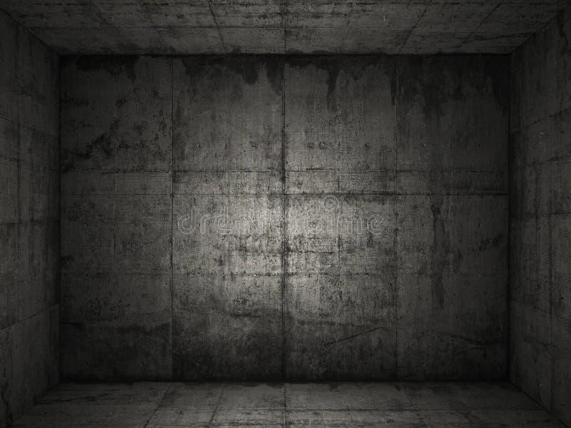 2 betonowy pokój fotografia royalty free