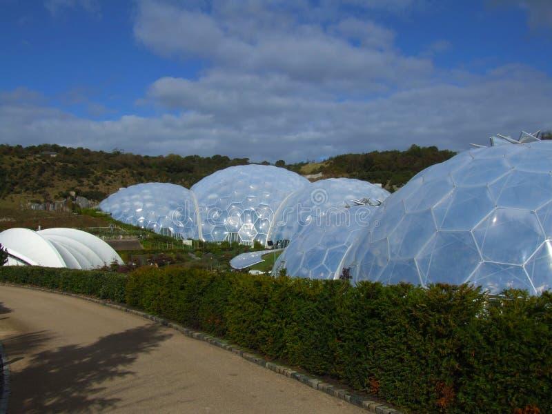2 biomes Eden projekt obrazy stock