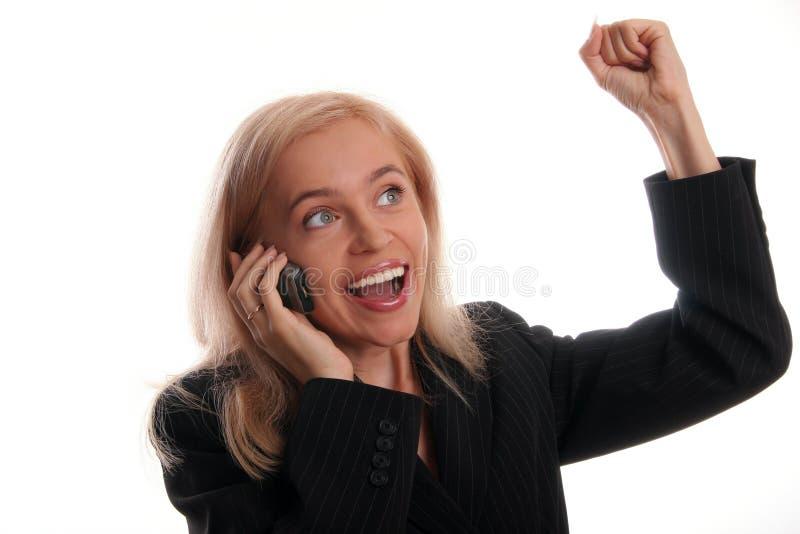 2 bizneswomanu piękny telefon komórkowy obrazy stock