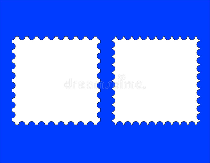 2 blank stamp templates. A blank stamp templates ready to be filled with your photos vector illustration