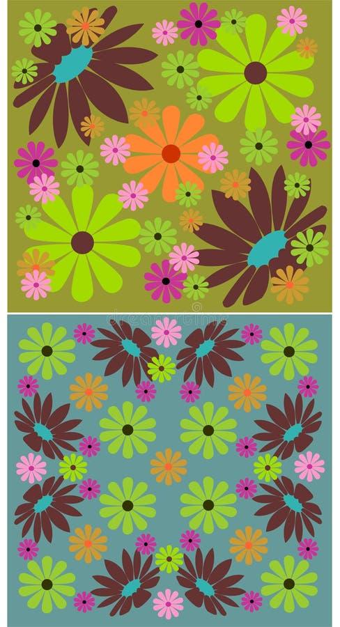 2 bloemenachtergronden vector illustratie