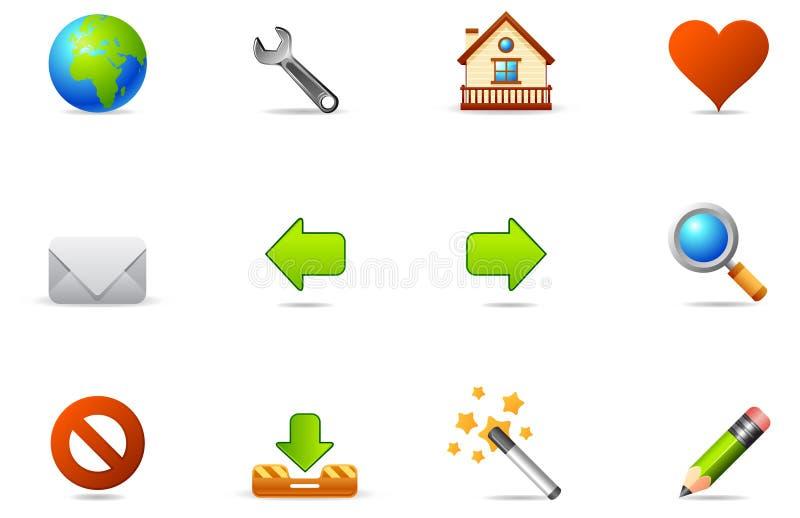 2 blogging inställda symbolsinternetphilos royaltyfri illustrationer