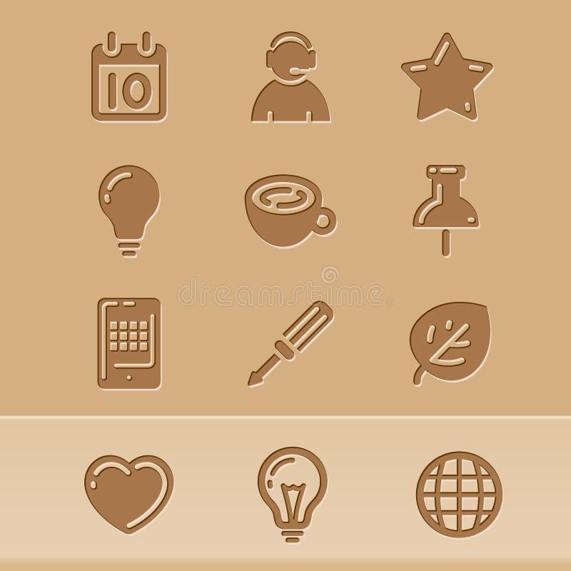 2 blogsymboler royaltyfri illustrationer
