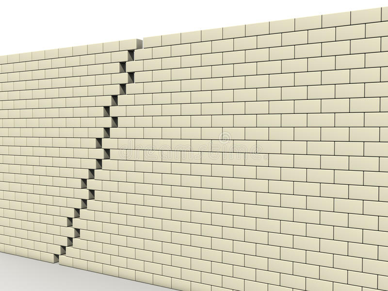 2 bloku łamają ściennego biel royalty ilustracja