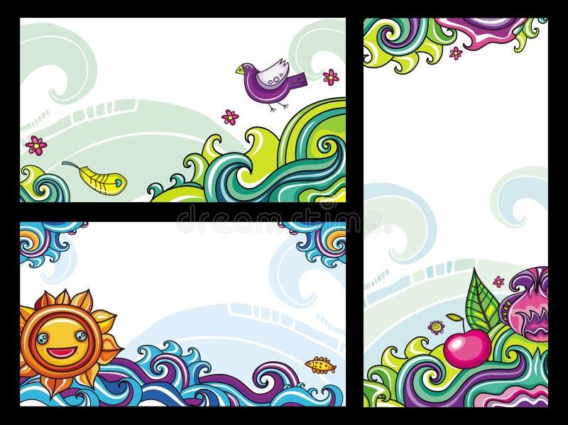 2 blom- sammansättningar vektor illustrationer