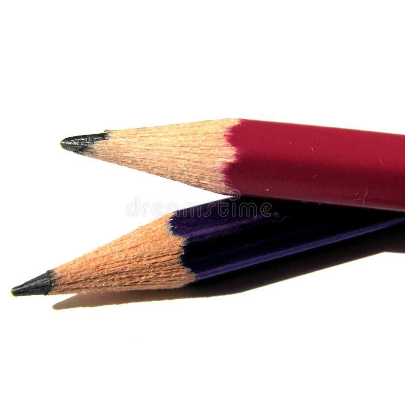 2 blyertspennor arkivfoto
