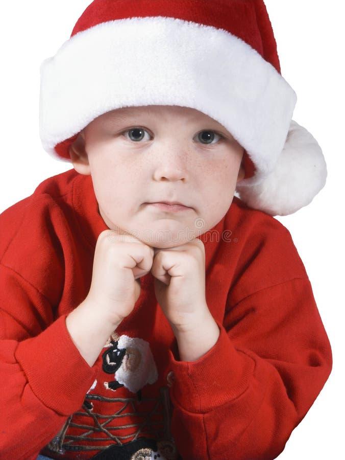 2 bożego narodzenie chłopcy obraz stock