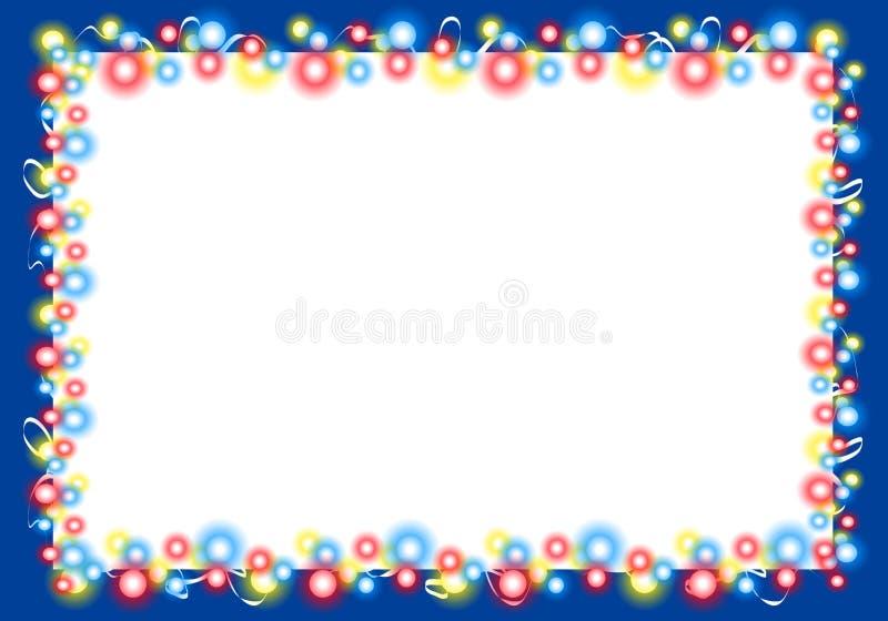 2 border christmas frame lights στοκ φωτογραφία με δικαίωμα ελεύθερης χρήσης