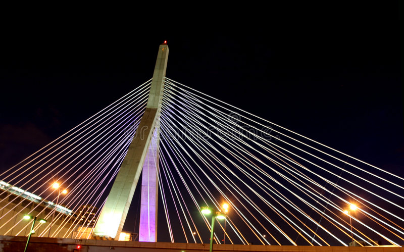2 boston bridge zakim στοκ φωτογραφίες με δικαίωμα ελεύθερης χρήσης