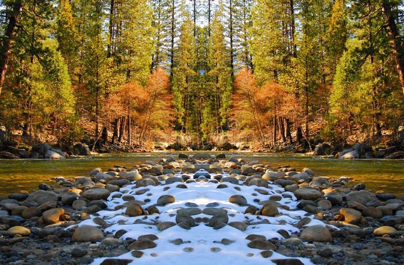 2 bridge rzeka mountain fotografia stock