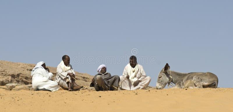 2 cameldrivers Αιγύπτιος στοκ εικόνες