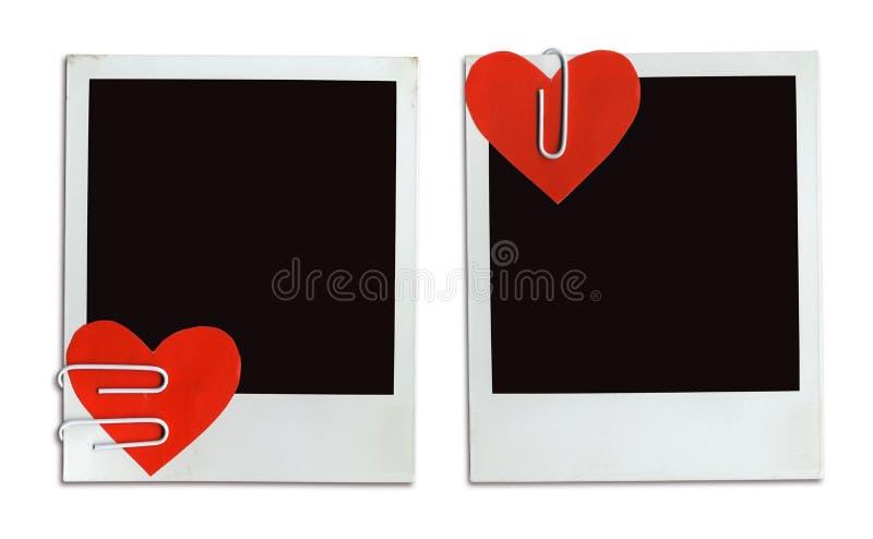 2 cartes de Valentine (chemin de +clipping, XXL) image libre de droits