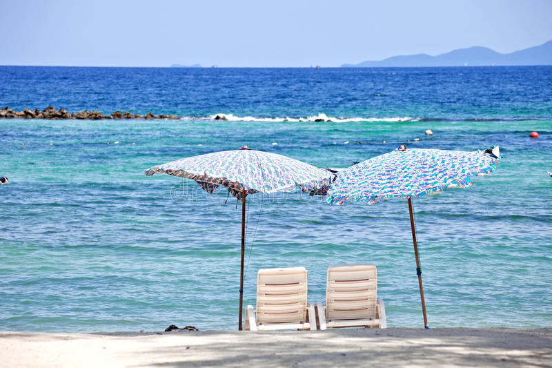 Download 2 Chairs On Beach In Front Of The Sea Stock Photo - Image: 21536526