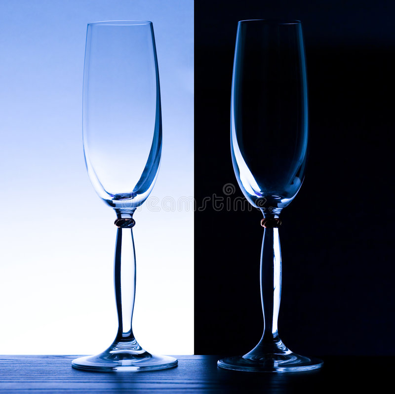2 Champagne Glasses Royalty Free Stock Photography