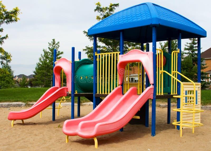2 children playground στοκ φωτογραφίες