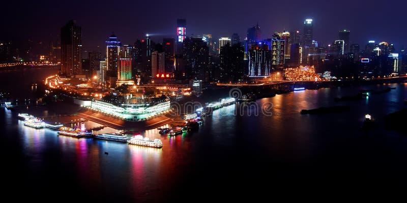 2 chongqing σκηνή λιμένων νύχτας στοκ φωτογραφία με δικαίωμα ελεύθερης χρήσης