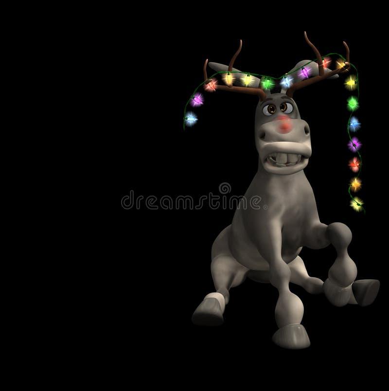 2 christmas donkey απεικόνιση αποθεμάτων