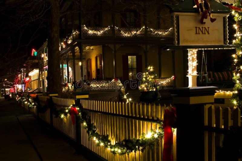 2 christmas street victorian στοκ φωτογραφία με δικαίωμα ελεύθερης χρήσης