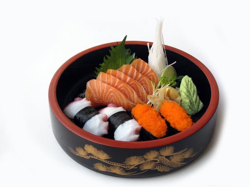 2 combo sashimisushi arkivfoton