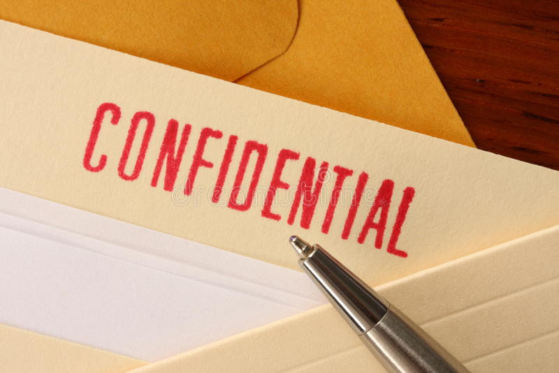 2 confidencial innehåll royaltyfri foto