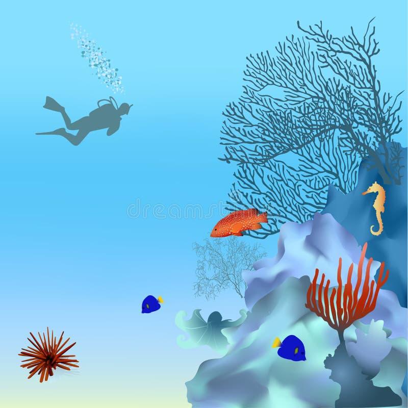 2 coralreef ilustracja wektor