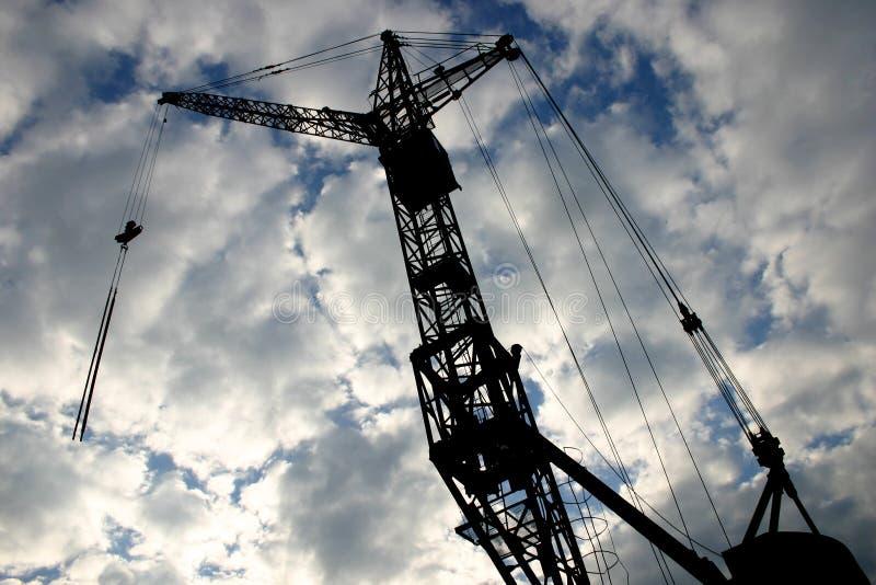 2 crane budowy zdjęcie royalty free