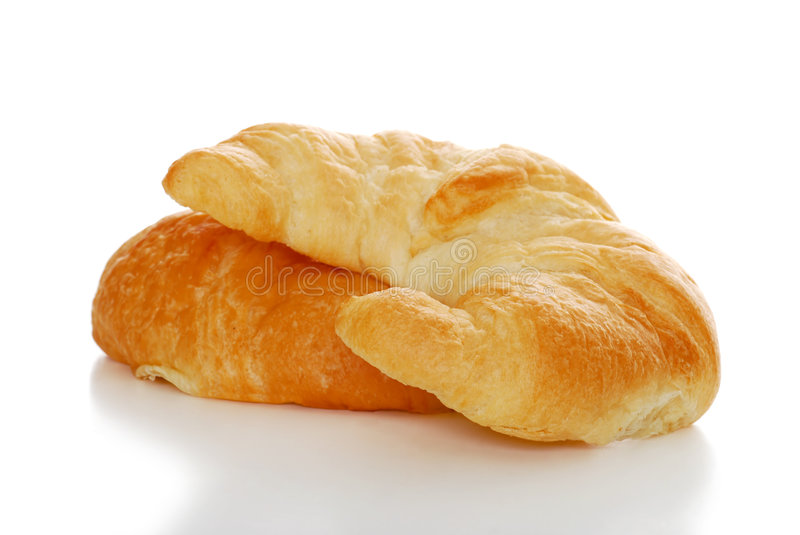 Download 2 Crescents Rolls Isolated With Shallow DOF Stock Photo - Image: 8666606