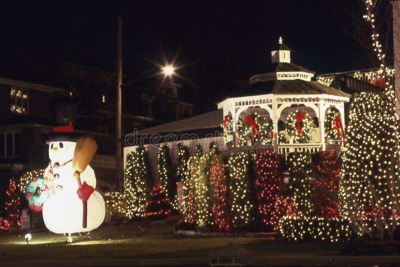2 cristmas装饰雪人 库存图片