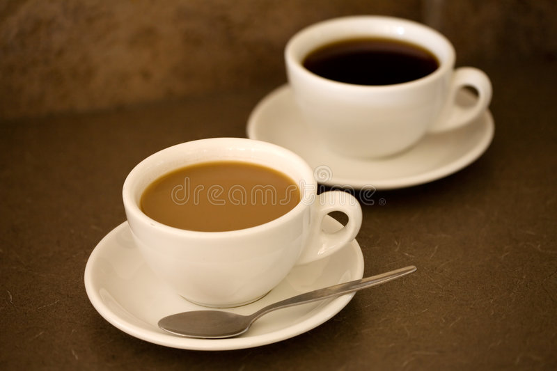 2 cups of coffee stock photo