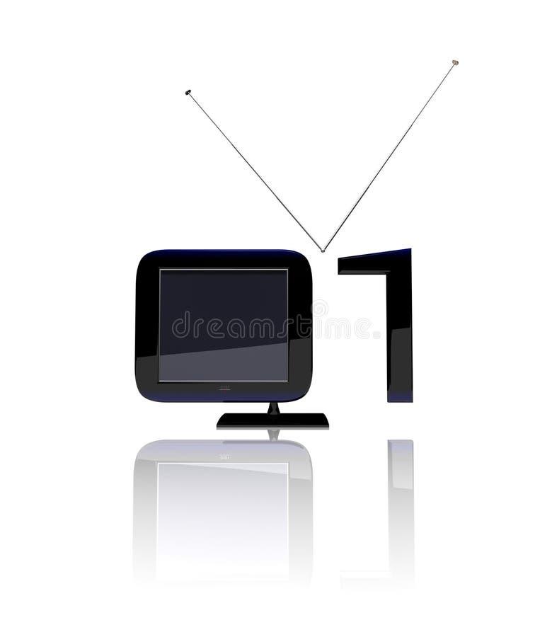 2 cyfrowy tv ilustracja wektor