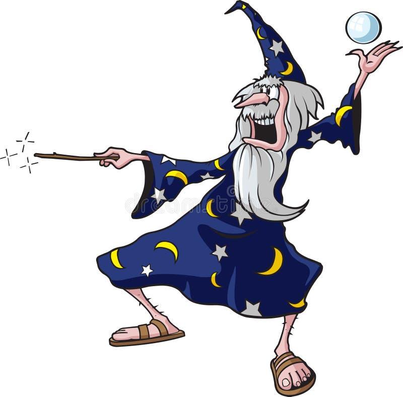 2 czarownik royalty ilustracja