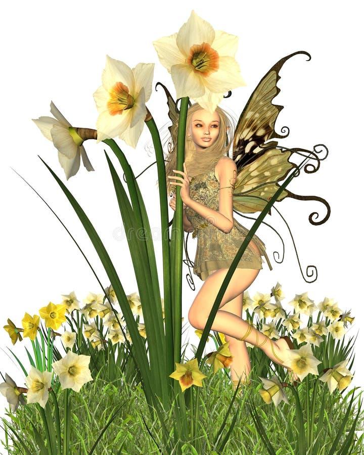 2 daffodil czarodziejka ilustracja wektor