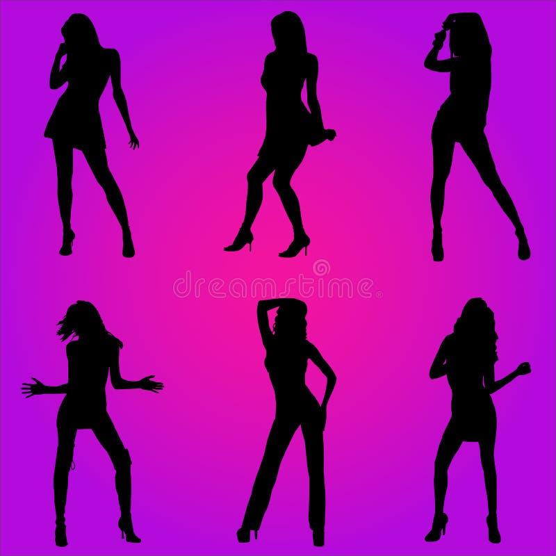 2 dancingowej kobiety ilustracji